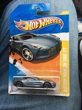 2011 Hot Wheels New Models Aston Martin One-77 Silver 31/244