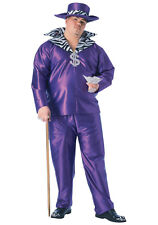 PURPLE BIG DADDY FULL CUT HALLOWEEN COSTUME PIMP GANGSTA MEN'S PLUS SIZE 1X