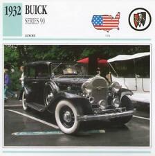 1932 BUICK SERIES 90 Classic Car Photograph / Information Maxi Card