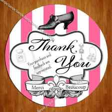 "40 Large 2"" eBay Whimsical French Boutique Thank You Label Sticker"