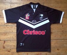 NUOVA Zelanda Kiwi Gillette Fusion Rugby SERIE test (Tri-Nations) shirt M
