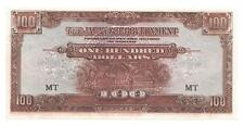 The Japanese Government 1944 Malaya One Hundred Dollars, Cat. # M8, Unc- P143