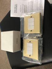 2x Treble Gold Light Switch / EPBRSW3 3G 10A 2WAY ROCKER New In Box British Made