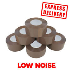 36 ROLLS BROWN LOW NOISE PURE TAPE BOX SEALING 48MMX150M *LARGE PARCEL PACKING*