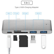5 In 1 Type-C Hub USB C 3.0 Charging Adapter Card Reader For MacBook Pro
