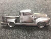 "Vintage Pewter Antique Truck Large Drawer Pull Man Cave Decor Handle 7"" H"