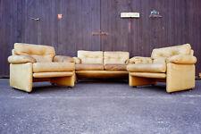 60er Tobia Scarpa C&B Sofa & 2x Sessel Sofagarnitur Easy Chair Couch Coronado