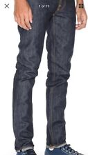Paper Denim & Cloth Edison Wash Men's Belted Straight Jeans Size 34 X 30 NWT $88