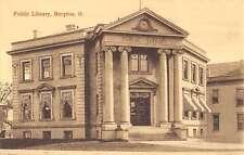 Bucyrus Ohio Public Library Exterior Street View Antique Postcard K21129