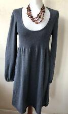 """Women's """"White Stuff"""" Grey Ribbed  Knitted Tunic Dress Size 14"""