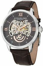 Stuhrling Original 574 03 Men's Aristocrat Executive II Automatic Skeleton Watch