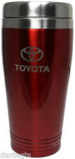 Toyota Logo Red Insulated Double Wall Stainless Steel Travel Coffee Mug Etch