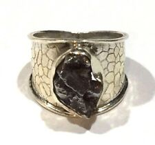 Campo Del Cielo Meteorite Fragment And Sterling Silver Dragon scale Ring