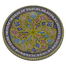 Orientalischer Keramik-Teller Handbemalt Deko Mediterran Kunsthandwerk Ø 25 cm
