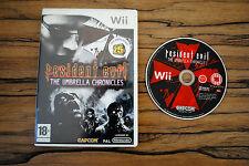 Jeu RESIDENT EVIL UMBRELLA CHRONICLES pour Nintendo Wii PAL SANS NOTICE (CD OK)