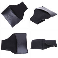 Black Faux PU Leather Chalk Holder Pouch with Clip Pool Billiards Snooker Cue