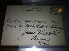 Dr. James Naismith inventor of basketball PSA 9 auto autograph signed index card