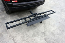 Havey Duty Motorcycle Dirtbike Scooter Steel Carrier Hauler Hitch Rack Ramp Anti