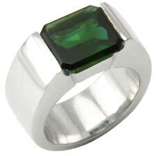 Turmalin Ring 12x10,5mm (Sterlingsilber 925) grüner Turmalin