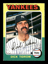 Dick Tidrow Autographed Auto 1975 O-Pee-Chee Card #241 New York Yankees 169388