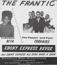 "Vintage 7"" x 8"" Promo Flyer: Ebony Express Revue Funk Soul Corvairs 60s Original"