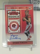 2019 Playoff Contenders Ryan Finley Rookie Ticket RPS Red Zone Auto FOTL SP!