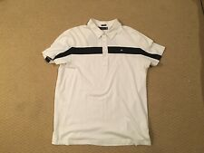 J.LINDEBERG golf polo shirt. XL size. Slim fit. White/Black. FREE SHIPPING