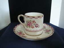 Crown Staffordshire China Demitasse Cup & Saucer Floral Rose Pattern England