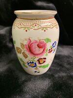 Losol Ware Beautifully Ornate Gold Gilded Floral Porcelain Vase