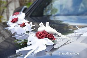 Autoschmuck, Autogirlande , Rosen bourdoux, Hochzeit, neu, Braut