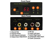 All-Channel PAL B/G RCA Video Audio To RF Coax Modulator For Europe Asia