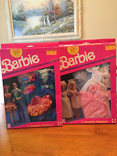 VINTAGE 1989 Barbie Doll  Fantasy Fashions NRFB. 2 sets, each set has 2 outifts