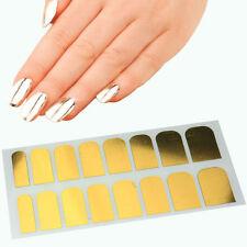 Metallic Gold Nail Nails Art Wraps Self Adhesive Stickers