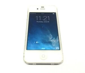Apple iPhone 4- 8GB - White (iCloud Bypassed) A1332 - Good Condition