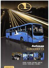 Autosan Eurolider 13 Intercity Bus 2011-12 UK Market Single Sheet Brochure
