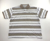 Men's LACOSTE Polo Shirt Top Stripped Polo Short Sleeve Size 7 XL
