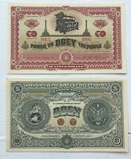 Shepard Fairey Obey dos lados del capitalismo Nota Bancaria Dinero Billete Raro