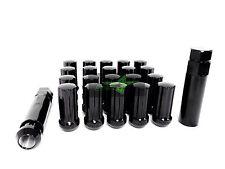 32 PC DODGE RAM LUG NUTS 2500 3500 9/16-18 BLACK TRUCK 7 SPLINE LOCKING + 2 KEYS