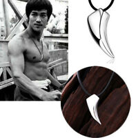 Pop Stainless Steel Men's Jewelry Titanium Wolf Tooth Pendant Necklace Gift LJ