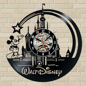 Disney Vinyl Clock Record Wall Clock Disney Castle Clock Art Wall Decor Cartoon
