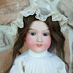 Antique Doll  Rare Metal  Socket Head  Feet Hands Beautiful Giebeler Falk  US