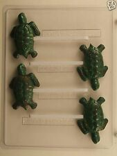 SEA TURTLE LOLLIPOP CLEAR PLASTIC CHOCOLATE CANDY MOLD AO210