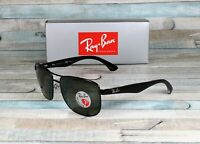 RAY BAN RB3533 002 9A Black Green Polarized 57 mm Men's Sunglasses