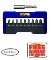 Irwin 1866980 Phillips Screwdriver Insert Power Bit 10 Piece Set with Case
