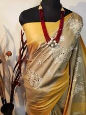 Designer Sari Jute silk Bollywood Sari Women's Special Wear Indian Wear I 13-5