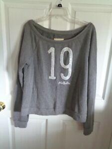 NWT Women's - Gray - Hollister - Long Sleeve Shirt / Top - Size L