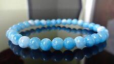 "Blue Dominican LARIMAR Bead Bracelet for Men or Women (On Stretch) 6mm - 7.5"""