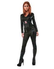 "Black Widow Womens Jumpsuit Costume, Med,(USA 6-10), BUST 36-38"",WAIST 27 - 30"""
