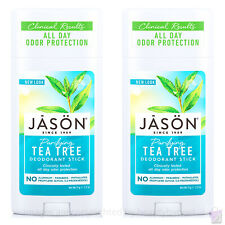 PACK OF 2 Jason purifying TEA TREE Deodorant Stick 2x71g