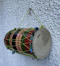 More details for vtg bhangra smaller size drum 31cm unusual decoration